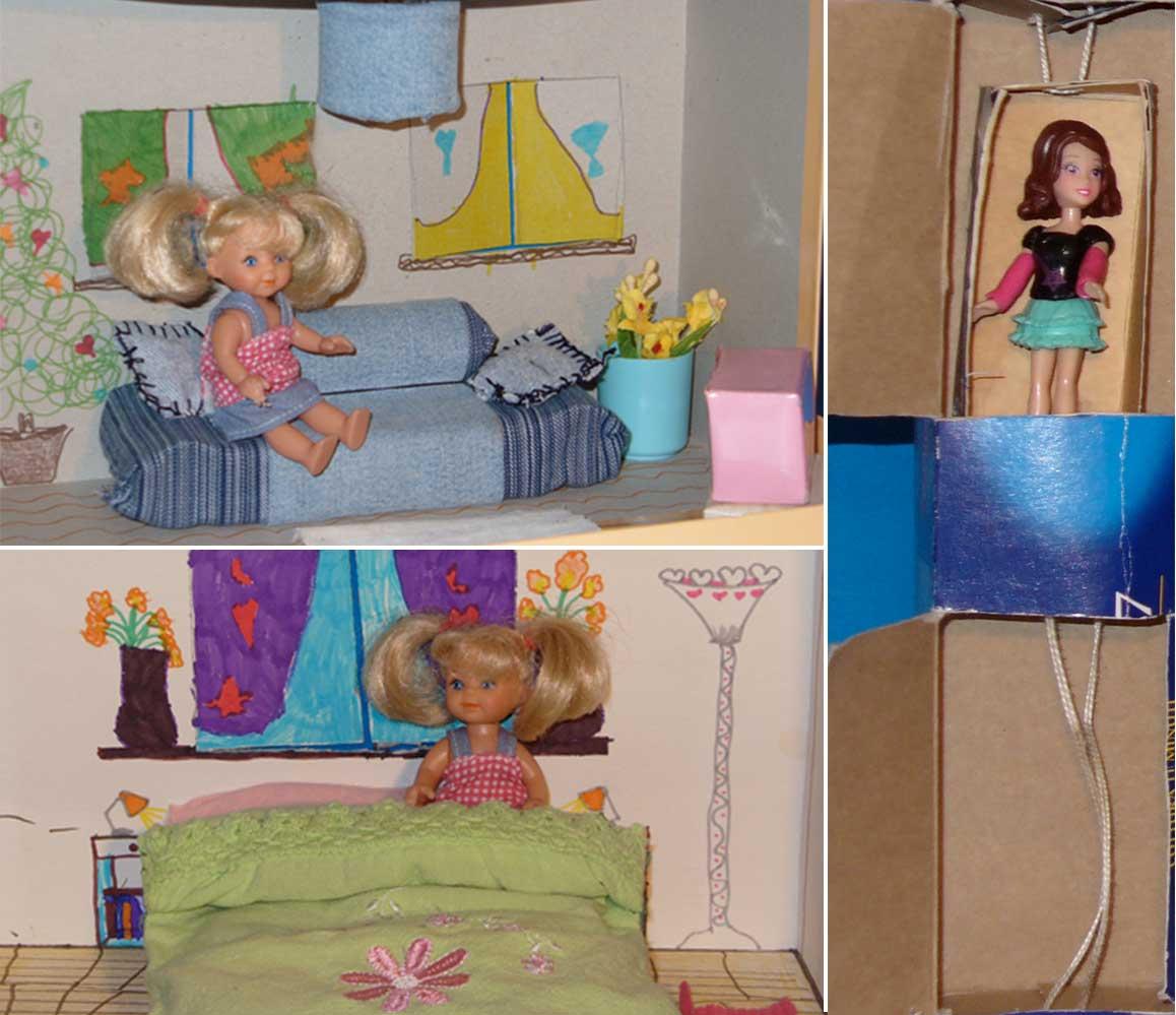 mobile e stanze casa delle bambole fai da te