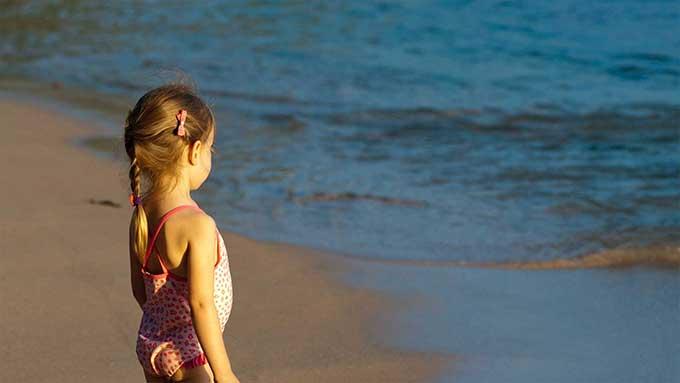 bambini al mare paura dell'acqua