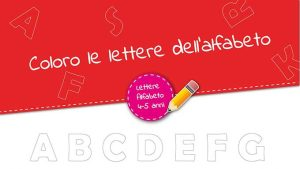 Lettere dell'alfabeto stampatello maiuscolo da colorare
