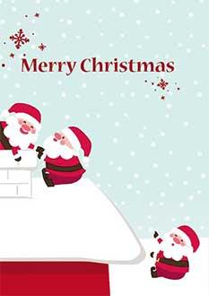 biglietto Babbo Natale divertente da stampare