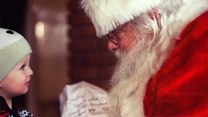 lettera a Babbo Natale bambino