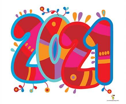 Nuovo anno 2021 disegno