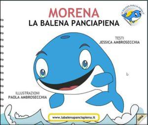 Libro per bambini digitale balena pancia piena copertina