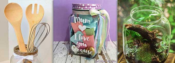 idea regalo festa della mamma barattolo decorato in vetro
