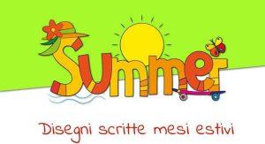 Scritta summer stagione da colorare