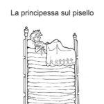principessa sul pisello Favola per bambini pdf da stampare e colorare
