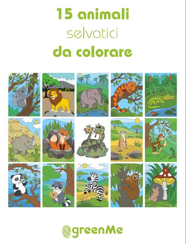 Libro da colorare bambini-disegni Animali selvatici pdf