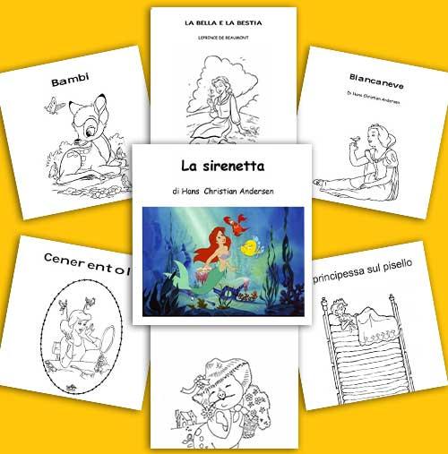Favole per bambini da stampare leggere e colorare in pdf