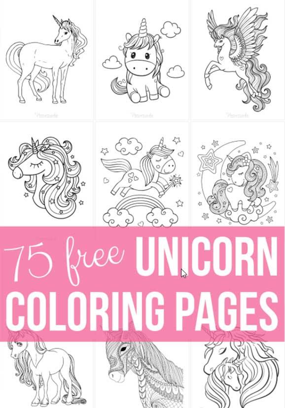 pagine unicorni, cavalli, pony da colorare e disegni kawaii e mandala